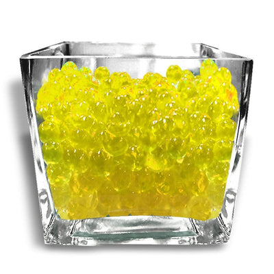 14grams Yellow BIG Round Deco Water Beads Jelly Vase Filler Balls For Centerpieces Table Decoration