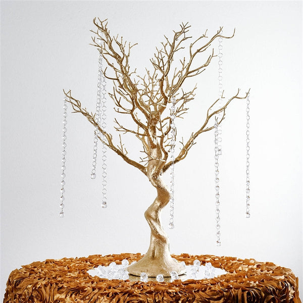 30 Quot Glittered Manzanita Gold Centerpiece Tree For Wedding Party Event Table Top Decoration 8pcs