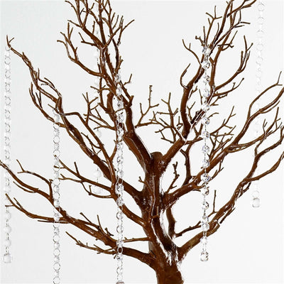 "30"" Glittered Manzanita Natural Centerpiece Tree For Wedding Party Event Table Top Decoration+8pcs Acrylic Chains"