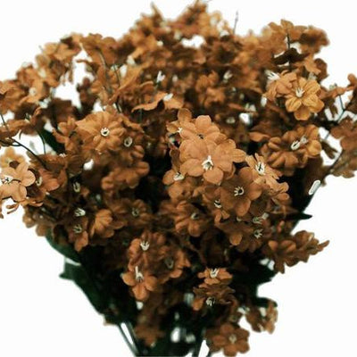 Baby Breath Bush Artificial Silk Flowers - Chocolate