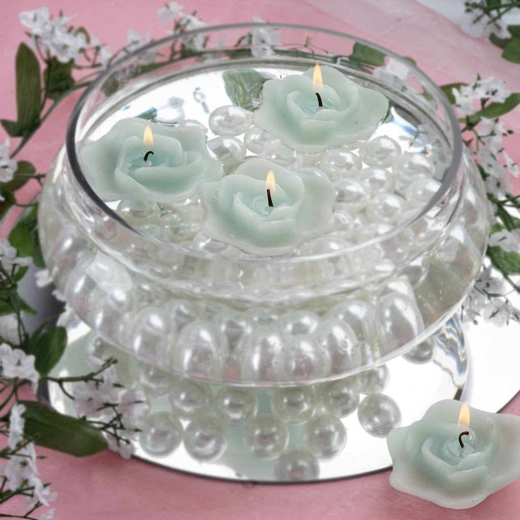 Turquoise Rose Floating Candles Wedding Birthday Party Centerpiece ...