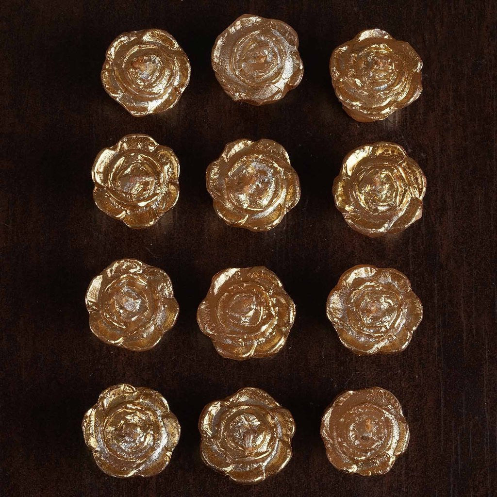 Famous Gold Rose Mini Floating Candles Wedding Birthday Party Centerpiece  KP15