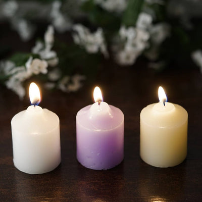 12 Wholesale Ivory Votive Candles Wedding Spa Party Venue Decor ...