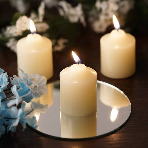 12 Wholesale Ivory Votive Candles Wedding Spa Party Venue Decor