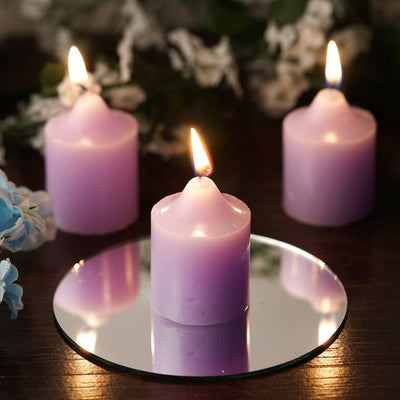 12 Wholesale Lavender Votive Candles Wedding Spa Party Venue Decor
