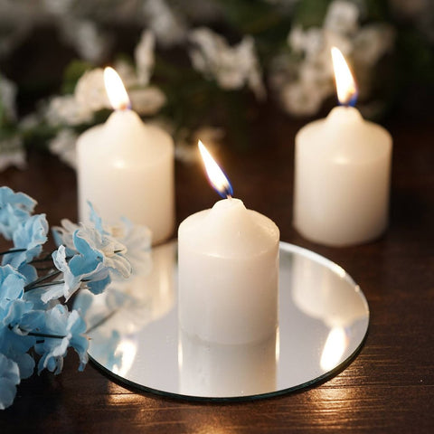 12 Wholesale White Votive Candles Wedding Spa Party Venue Decor
