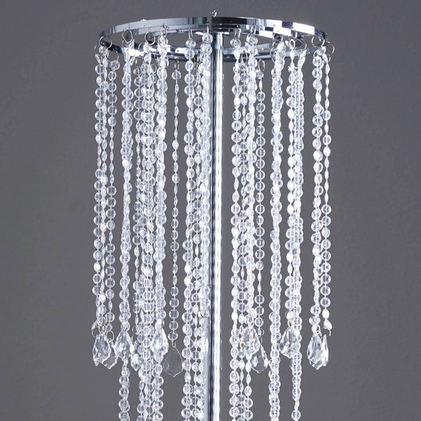 "10"" Diameter x 36"" Drop Flying colors Acrylic Diamond Chandelier - Clear"
