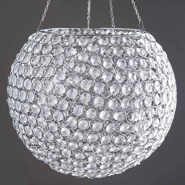 "18'' Ball x 41"" Standing Gigante Utopia Lamp Acrylic Diamond Chandelier Clear"