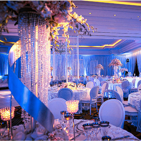 Maybelline dazzling crystal pendants chandelier wedding centerpiece 22 tall flower stand crystal pendants chandelier wedding centerpiece aloadofball Choice Image