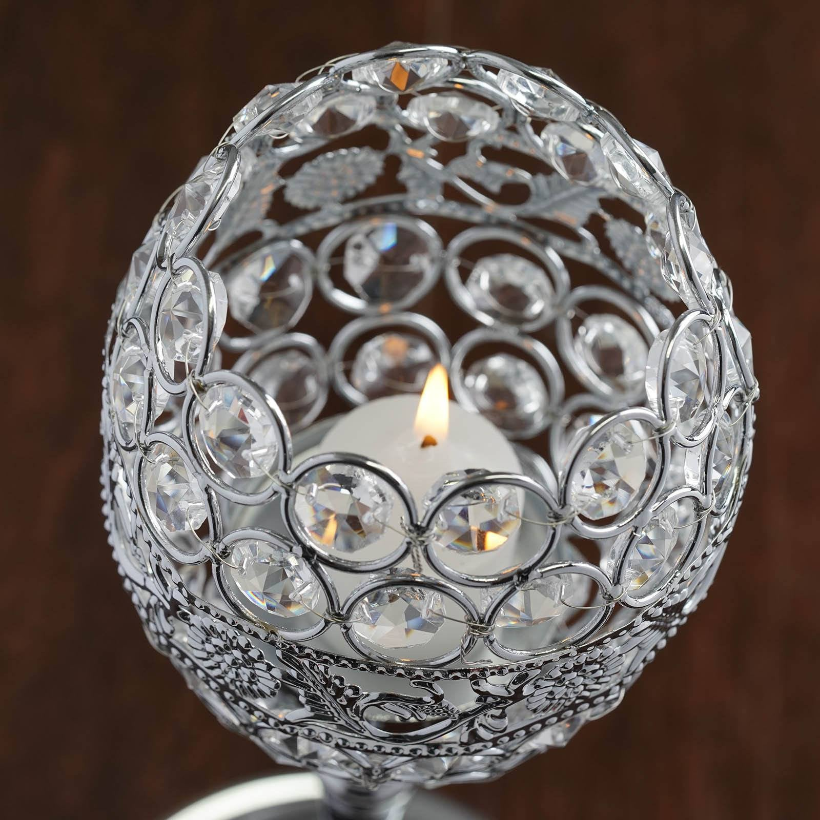 Decorative Votive Tealight Crystal Candle Holder Goblet Wedding
