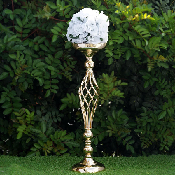 "22.5"" Tall Metal Wedding Flower Decor Candle Holder Vase Centerpiece - Gold - Buy 1 Get 1 Free"