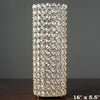 "16"" Tall Gold Exquisite Wedding Votive Tealight Crystal Candle Holder"