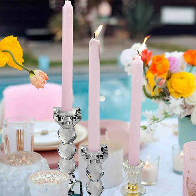 "3"" Gemcut Egyption Handcrafted Glass Crystal Votive Candlestick Holder With Silver Metal Stem Table Top Wedding Centerpiece - 1 PCS"