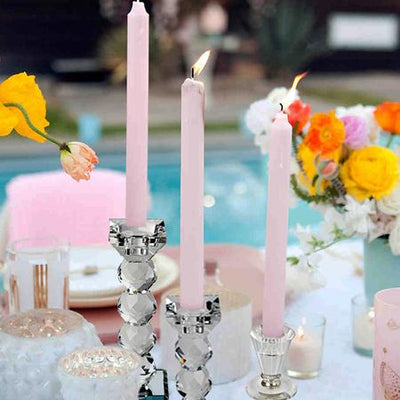 "3"" Gemcut Egyption Handcrafted Glass Crystal Votive Candlestick Holder With Gold Metal Stem Table Top Wedding Centerpiece - 1 PCS"