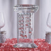 "11"" Gemcut Egyptian Handcrafted Glass Crystal Pillar Vase Chandelier Table Top Wedding Centerpiece - 1 PCS"