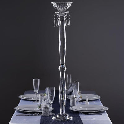"35"" Gemcut Egyption Handcrafted Glass Floral Vase Votive Candle Holder Table Top Wedding Centerpiece - 1 PCS"