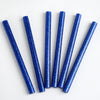 10 pcs Royal Blue Glitter Hot Melt Glue Sticks For DIY Art Craft Sealing Repair Tool - 7mm x 4""