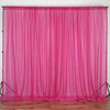10FT Fire Retardant Fushia Sheer Curtain Panel Backdrops Window Treatment With Rod Pockets - Premium Collection
