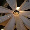 20FT Premium White Fire Retardant Sheer Voil Curtain Ceiling Panel Backdrop