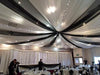 30FT Premium White Fire Retardant Sheer Voil Curtain Ceiling Panel Backdrop