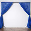 10FT Fire Retardant Royal Blue Sheer Curtain Panel Backdrops Window Treatment With Rod Pockets - Premium Collection