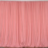 Set Of 2 Rose Quartz Fire Retardant Polyester Curtain Panel Backdrops Window Treatment With Rod Pockets - 5FTx10FT