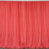 Set Of 2 Coral Fire Retardant Polyester Curtain Panel Backdrops Window Treatment With Rod Pockets - 5FTx10FT