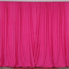 Set Of 2 Fushia Fire Retardant Polyester Curtain Panel Backdrops Window Treatment With Rod Pockets - 5FTx10FT