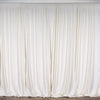 Set Of 2 Ivory Fire Retardant Polyester Curtain Panel Backdrops Window Treatment With Rod Pockets - 5FTx10FT