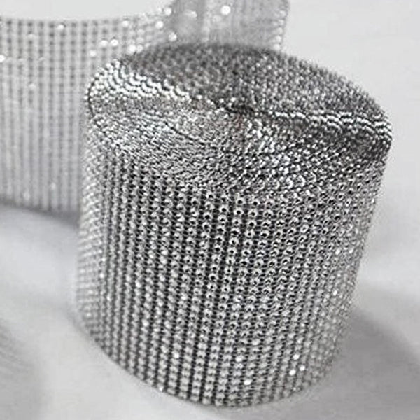 "PAR EXCELLENCE Endless Diamond Roll 4.5""x10 yards/roll Silver"