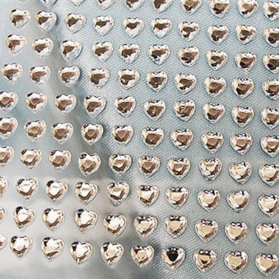 Heart Design Wholesale Self Adhesive Crystal Diamond Rhinestone Stickers - Clear  600 PCS