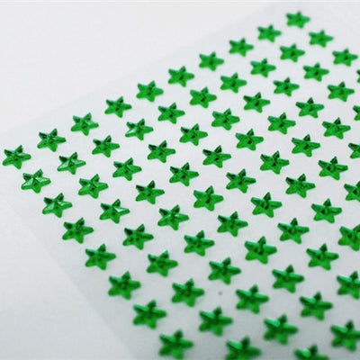 Self Adhesive Diamond Rhinestone Star shape Peel Stickers- Emerald - 600 PCS