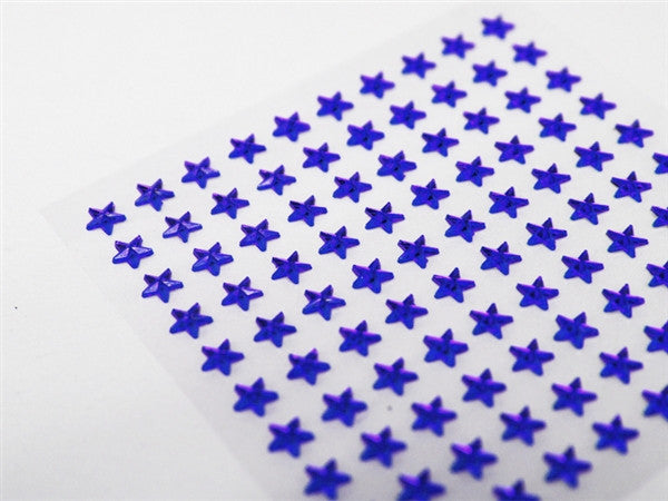 Self Adhesive Diamond Rhinestone Star shape Peel Stickers- Sapphire - 600 PCS