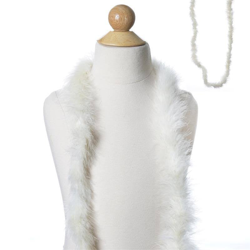 Deluxe Marabouostrich Feather Boas Color Ivory Size