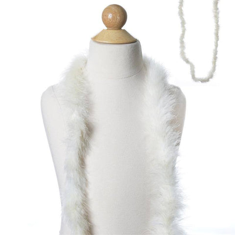 Deluxe Marabou Ostrich Feather Boas-Ivory-2 Yards
