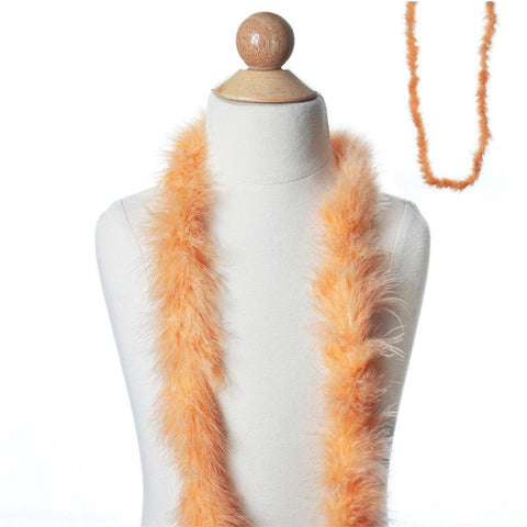 Deluxe Marabou Ostrich Feather Boa - LIght Coral-2 Yards