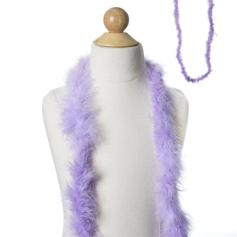 Deluxe Marabou Ostrich Feather Boa - Lavender- 2 Yards