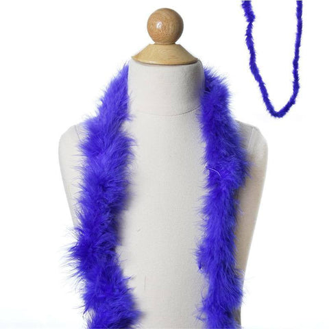 Deluxe Marabou Ostrich Feather Boa-Royal Blue-2 Yards