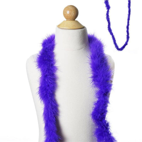 Deluxe Marabou Ostrich Feather Boa-Purple-2 Yards