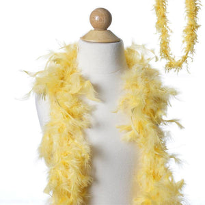 Efavormart 2 Yards Deluxe Marabou Ostrich Feather Boas Premium Turkey Flat Chandelle Boa for Arts and Crafts-Royal Blue