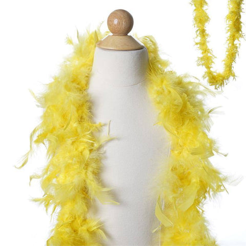 Lush Chandelle Turkey Boas - Lemon Yellow 2 Yards  50g