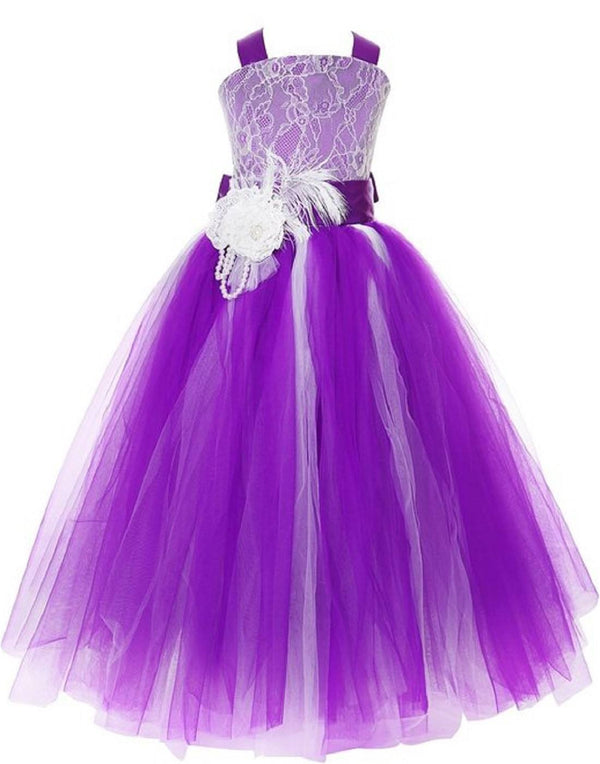 Fairy Tutu Flower Girl Dress - Purple