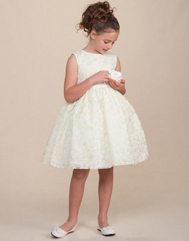 Bewitching Sleeveless Lace Flower Girl Dress - Apple Green
