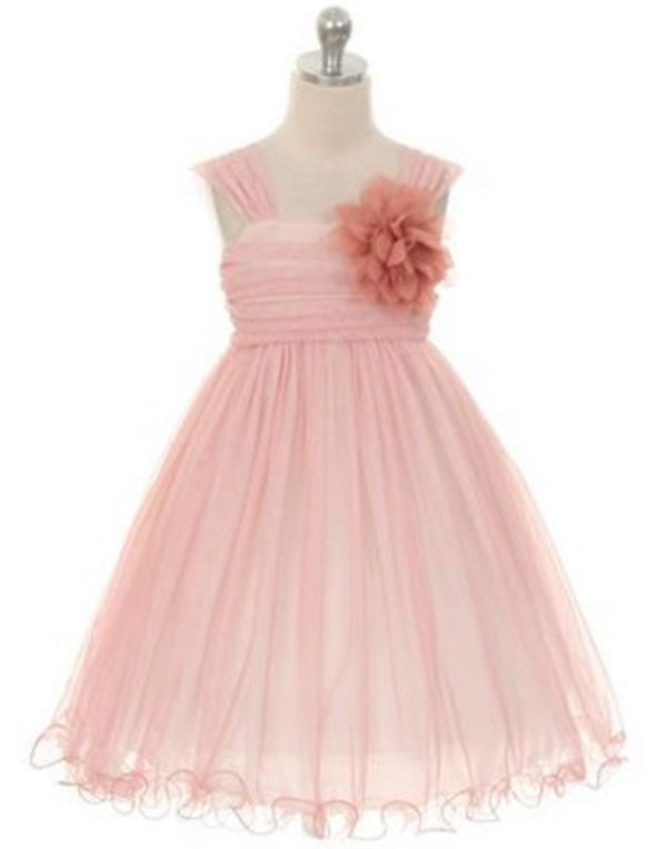 Compelling Mesh and Taffeta Overlay Dress - Ivory / Blush