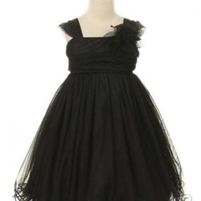 Compelling Mesh and Taffeta Overlay Dress - Black
