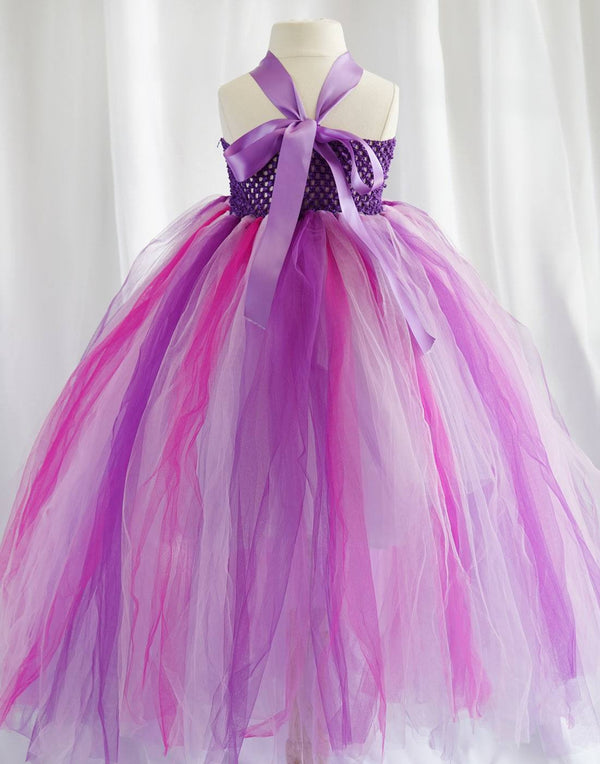 Caribbean Fuchsia One Shoulder Tulle Dress