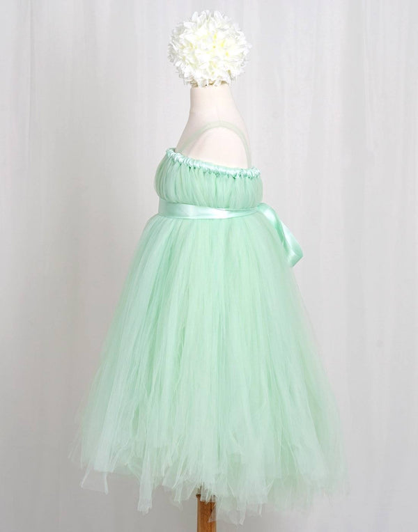 Empyrean Tulle  Floor-Length Dress - Mint