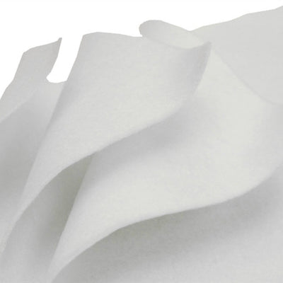"9"" x 12"" Wholesale Decorative Craft Felt Sheet - White - 10 PCS"