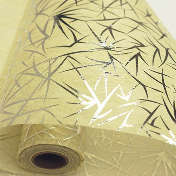 "Glossy Party Event Craft Non-Woven Spider Grass Design Fabric Bolt -Silver/Ivory- 19""x10Yards"