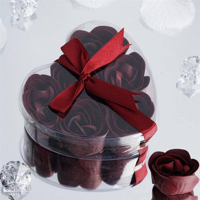 Heart Rose Soap Petals-Burgundy